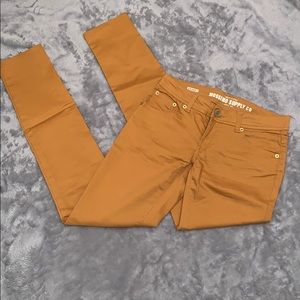 Mossimo Mustard Skinny Pants